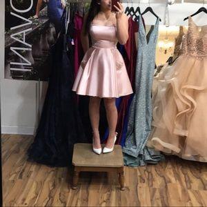 SHORT PINK DRESS CUSTOM MADE
